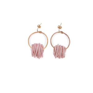 BAS Nepture earrings gold pink