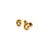 14ct gold filled wire wrapped stud earrings