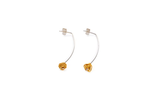 BAS Melia earrings gold on silver