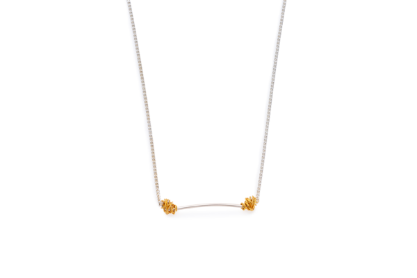 BAS Melia necklace gold on silver