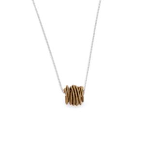 BAS Neptune necklace silver khaki