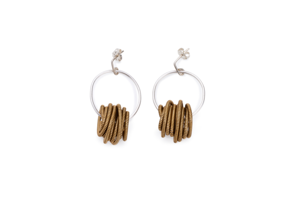 BAS Nepture earrings silver khaki