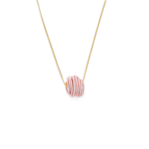 BAS Neptune necklace gold and pink