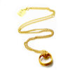 Handmade wire wrapped gold plated hoop necklace 2