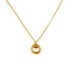 Handmade wire wrapped gold plated hoop necklace 4