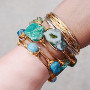 Turquoise Bangle Stack