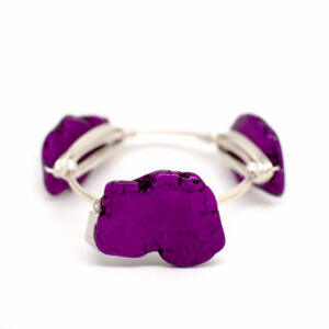 purplr cracked turquoise silver bangle