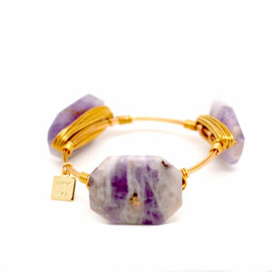 Cape Amethyst Gold Bangle