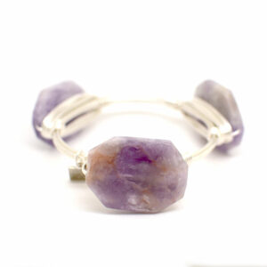 Cape Amethyst Bangle silver