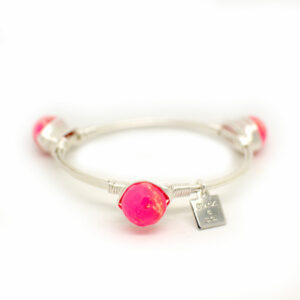 Hot pink impression jasper silver